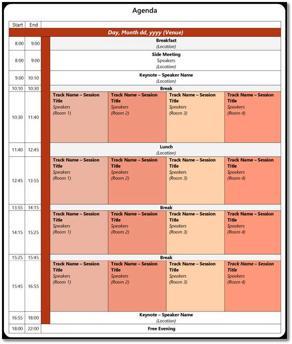 Conference Agenda Sample