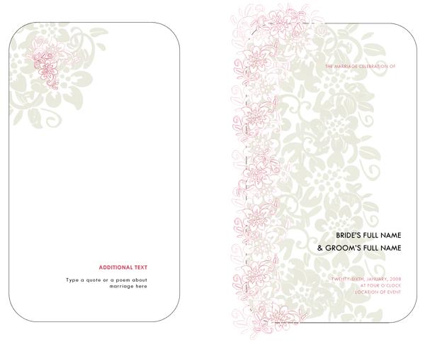 Wedding Program Example