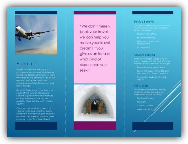 3 free tri fold brochure templates excel word templates. Black Bedroom Furniture Sets. Home Design Ideas