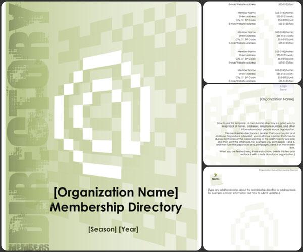 member directory template